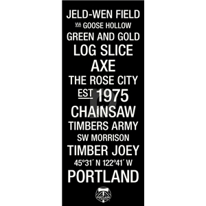 Portland Timbers Subway Art with Logo