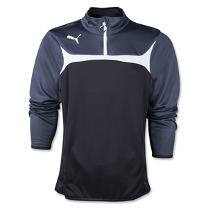 PUMA 1/4 Zip Training Top (Blk/Wht)