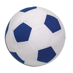 Autograph Soccer Ball Pillow (Royal)