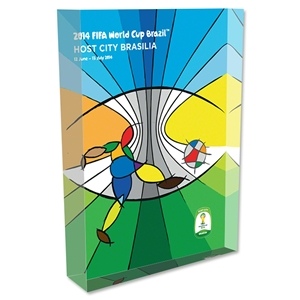 Brasilia 2014 FIFA World Cup Brazil Host City Poster Acrylic Block Display