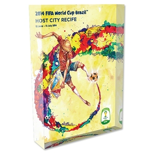 Recife 2014 FIFA World Cup Brazil Host City Poster Acrylic Block Display