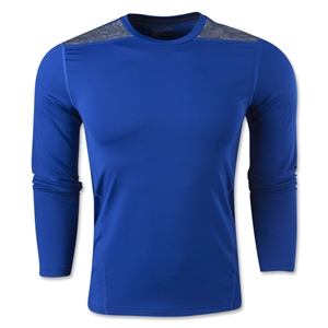 adidas TechFit Fitted Long Sleeve T-Shirt (Royal)