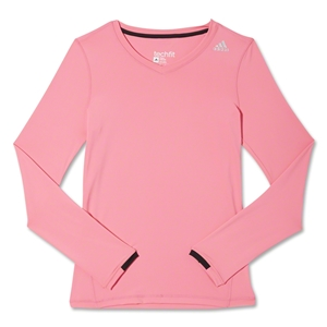 adidas Techfit Long Sleeve T-Shirt (Pink)