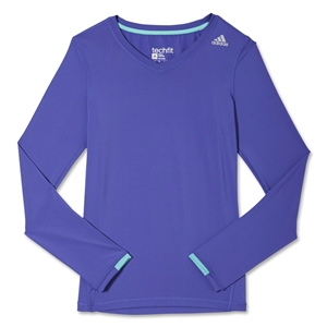 adidas Techfit Long Sleeve T-Shirt (Purple)