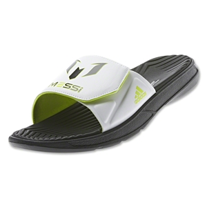 adidas Messi Slide Sandal (Black/Core White/Solar Slime)