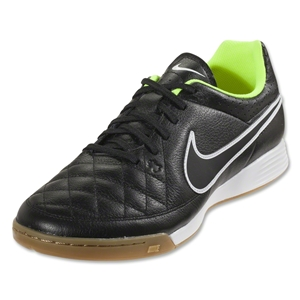 Nike Tiempo Genio Leather IC (Black/Volt)