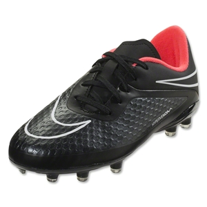 Nike Junior Hypervenom Phelon FG (Black/Hyper Punch)