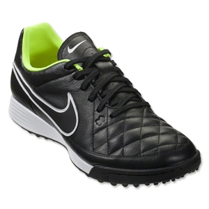 Nike Tiempo Genio Leather TF (Black/Volt)