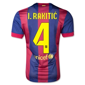 Barcelona 14/15 I. RAKITIC Authentic Home Soccer Jersey