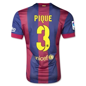 Barcelona 14/15 PIQUE Authentic Home Soccer Jersey