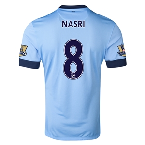 Manchester City 14/15 NASRI Authentic Home Soccer Jersey