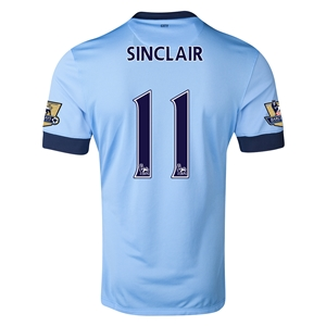 Manchester City 14/15 SINCLAIR Authentic Home Soccer Jersey