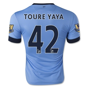 Manchester City 14/15 TOURE YAYA Home Soccer Jersey