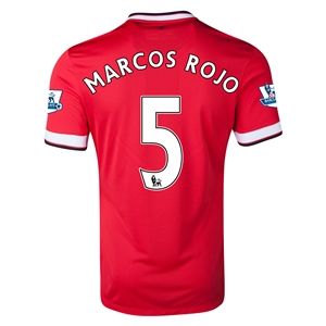 Manchester United 14/15 MARCOS ROJO Home Soccer Jersey