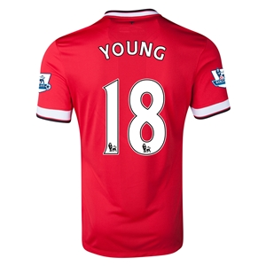 Manchester United 14/15 YOUNG Home Soccer Jersey