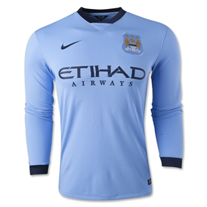 Manchester City 14/15 LS Home Soccer Jersey