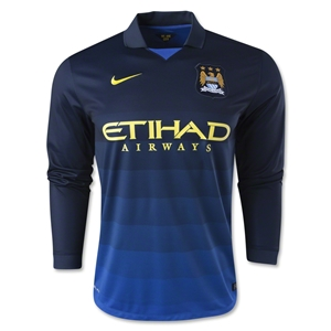 Manchester City 14/15 LS Away Soccer Jersey