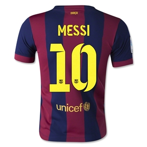 Barcelona 14/15 MESSI Youth Home Soccer Jersey