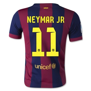 Barcelona 14/15 NEYMAR JR Youth Home Soccer Jersey