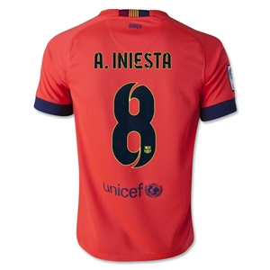 Barcelona 14/15 A. INIESTA Youth Away Soccer Jersey