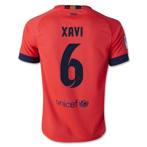 Barcelona 14/15 XAVI Youth Away Soccer Jersey