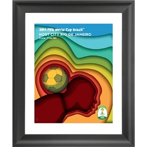 Rio 2014 FIFA World Cup Host City Framed Print
