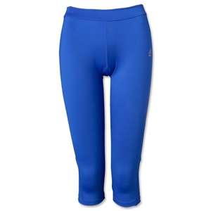adidas Women's TechFit Three-Quarter Tight (Blue)