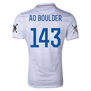 USA 14/15 American Outlaws AO BOULDER Home Soccer Jersey