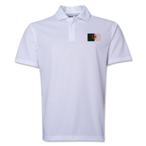 Algeria Flag Soccer Polo (White)