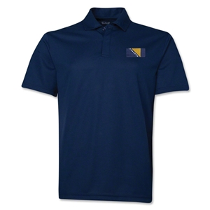 Bosnia-Herzegovina Flag Soccer Polo (Navy)