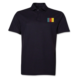 Cameroon Flag Soccer Polo (Black)