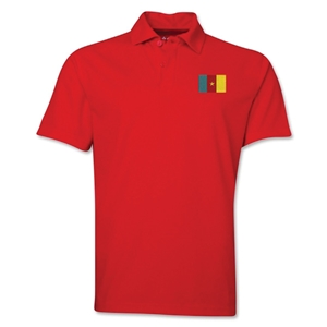 Cameroon Flag Soccer Polo (Royal)