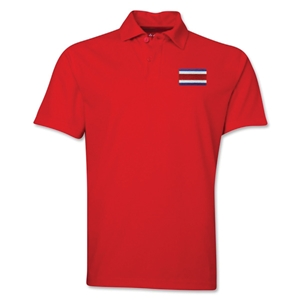 Costa Rica Flag Soccer Polo (Red)