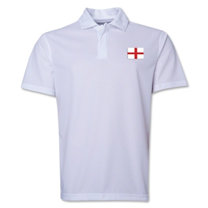 England Flag Soccer Polo (White)
