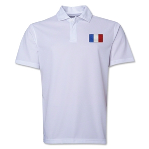 France Flag Soccer Polo (White)