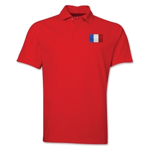 France Flag Soccer Polo (Red)