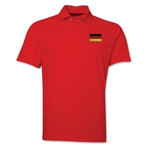 Germany Flag Soccer Polo (Red)