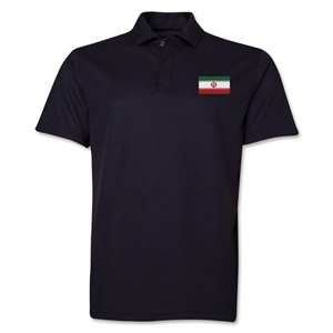 Iran Flag Soccer Polo (Black)