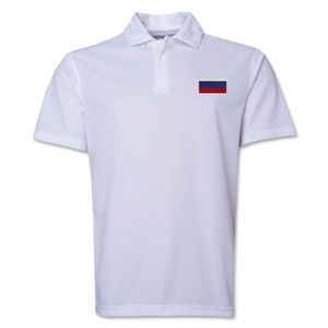 Russia Flag Soccer Polo (White)