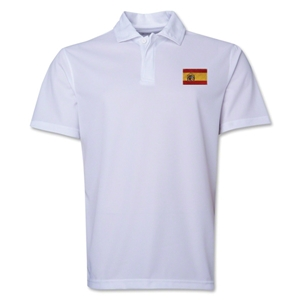Spain Flag Soccer Polo (White)