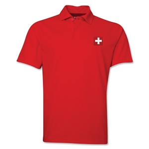 Switzerland Flag Soccer Polo (Red)