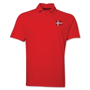 Denmark Flag Soccer Polo (Red)