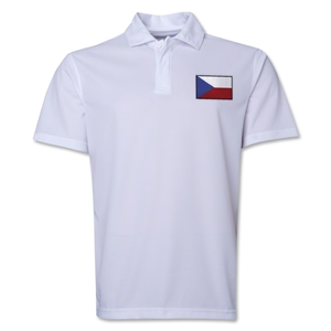 Czech Republic Flag Soccer Polo (White)