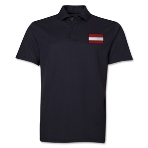 Austria Flag Soccer Polo (Black)