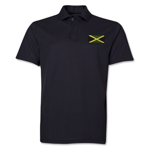 Jamaica Flag Soccer Polo (Black)