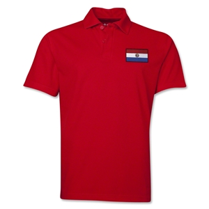 Paraguay Flag Soccer Polo (Red)