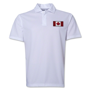 Canada Flag Soccer Polo (White)