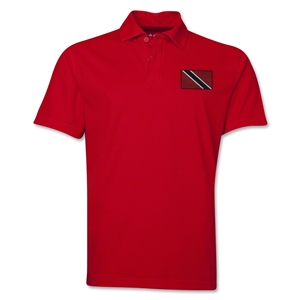 Trinidad & Tobago Flag Soccer Polo (Red)