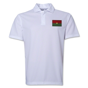 Burkina Faso Flag Soccer Polo (White)