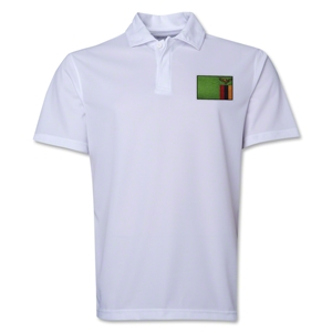 Zambia Flag Soccer Polo (White)